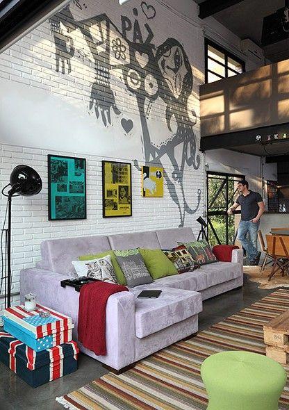 Pintura de parede como pintar ideias para fazer for Pintura estilo industrial