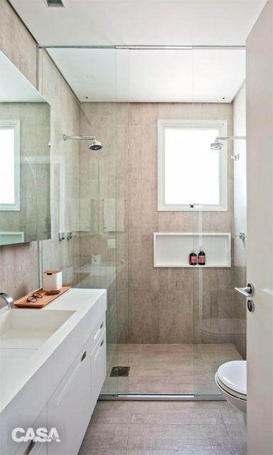 Piso para banheiro veja como não errar na escolha! -> Banheiro Com Piso Que Imita Pastilha
