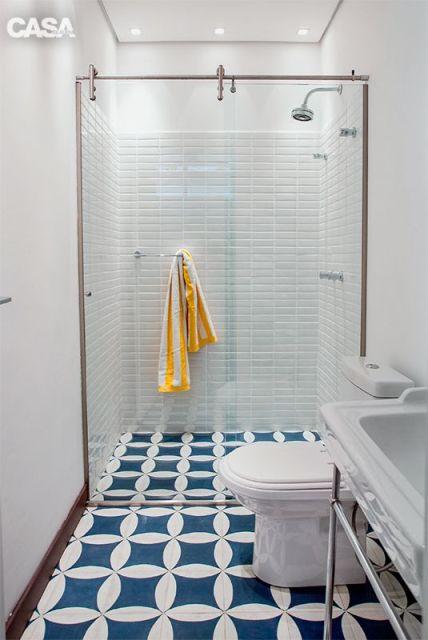 Piso para banheiro veja como não errar na escolha! -> Banheiros Decorados Pisos