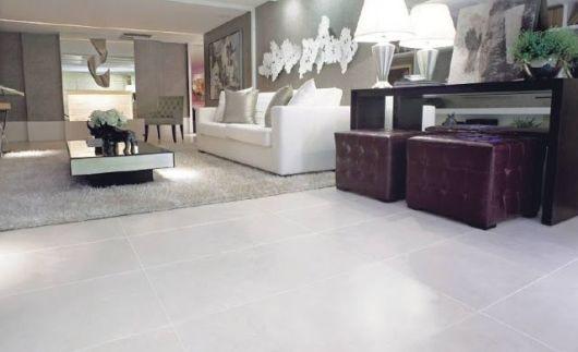 piso cinza