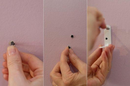 prateleira invisível como fazer bucha