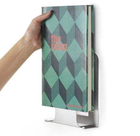 prateleira invisível livros vertical