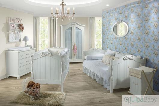 Quarto de bebê azul Dicas de como decorar e 40 fotos ~ Quarto Branco E Azul