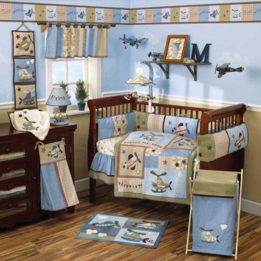 quarto de bebê azul e marrom dicas