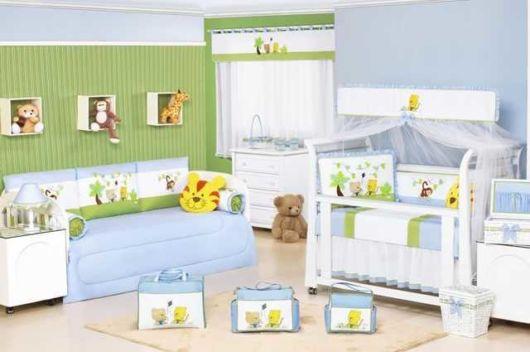 quarto de bebê azul e verde como fazer