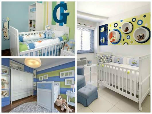 quarto de bebê azul e verde modelos