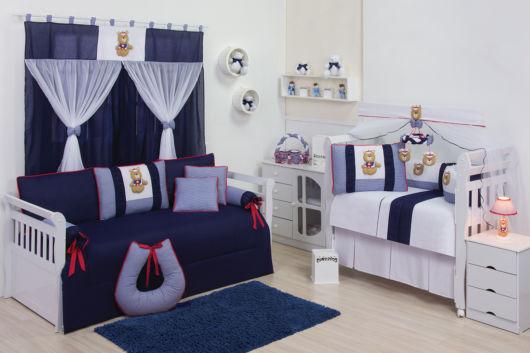 quarto de bebê azul marinho ursinho marinheiro