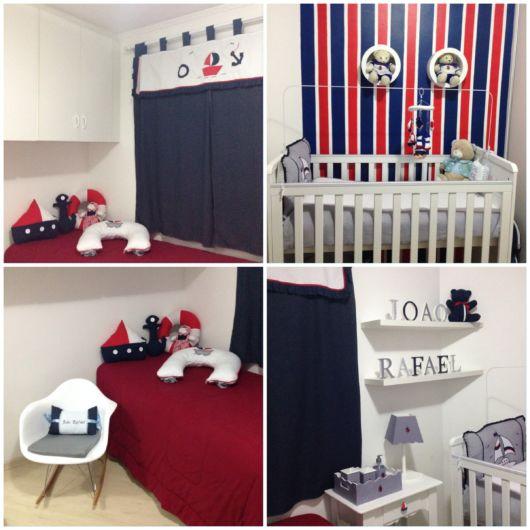 quarto de bebê azul marinho ursinho
