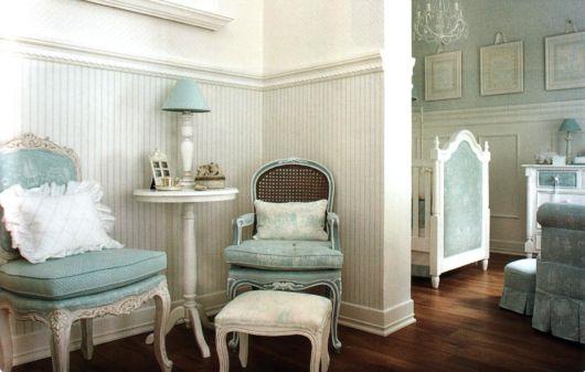 quarto de bebê azul provençal