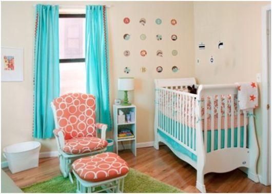 quarto de bebê azul turquesa dicas