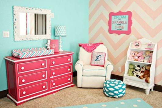 Quarto de bebê azul Dicas de como decorar e 40 fotos ~ Quarto Rosa E Turqueza