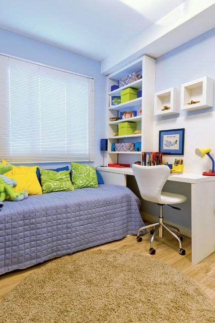 decoração azul clara
