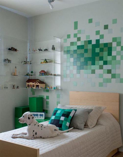 decoração branca e verde