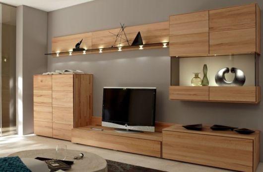 rack de madeira tipo moderno e elegante
