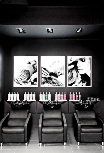 Sal o de beleza pequeno decorado 30 inspira es e dicas for Papel para salones modernos