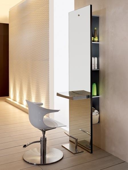 salão de beleza pequeno decorado minimalista