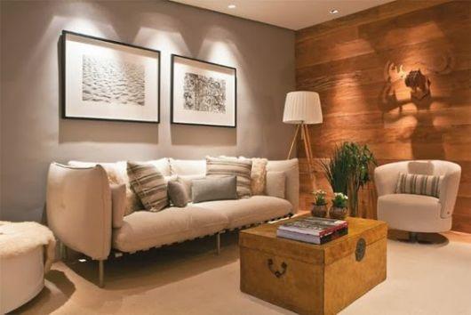 parede de madeira decoração