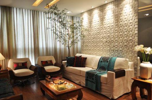 Sala de estar pequena dicas e ideias para decorar for Sala de estar com papel de parede 3d