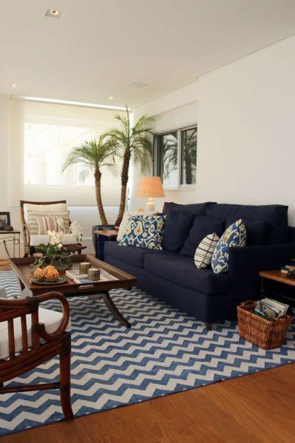 Sala De Estar Azul Royal ~ sala azul