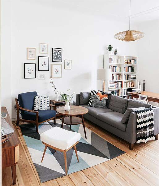Sala De Estar Moderna Pequena ~ mesa de centro foi feita de pallets
