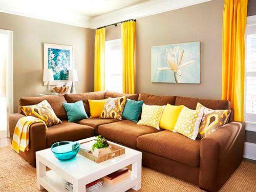 sofá de canto marrom