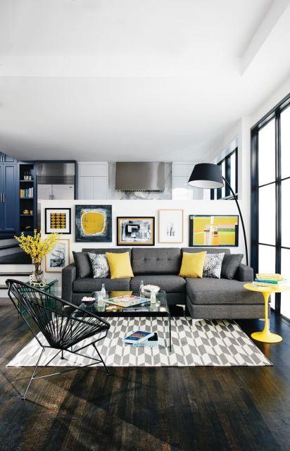 salas com sofá cinza ideias