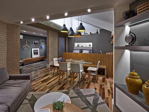 salas com sofá cinza