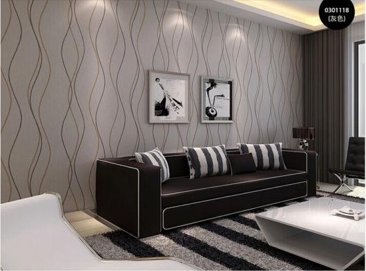 salas com sofá preto papel