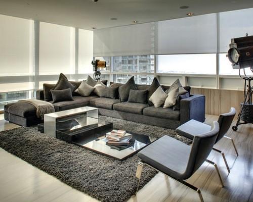 sofa cinza ideias