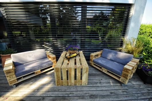 deck de madeira desgastada