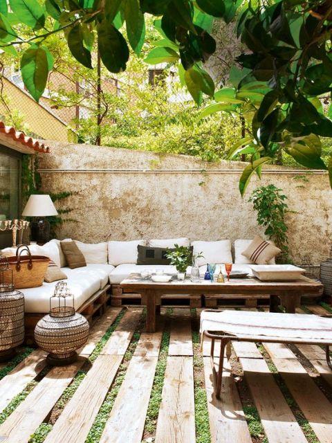decoração criativa jardim