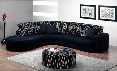 sofa preto destaque