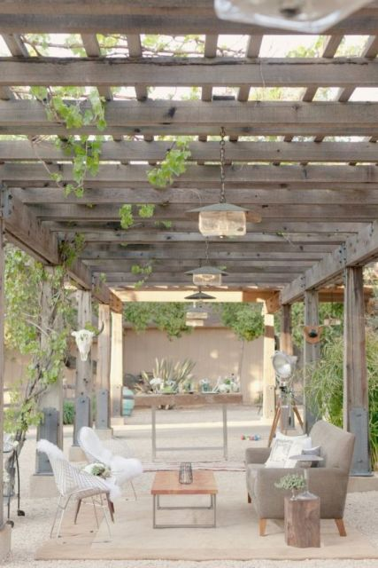 terraço com pergolado