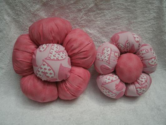 almofada rosa flor