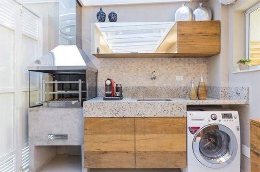 área de churrasqueira com lavandeira