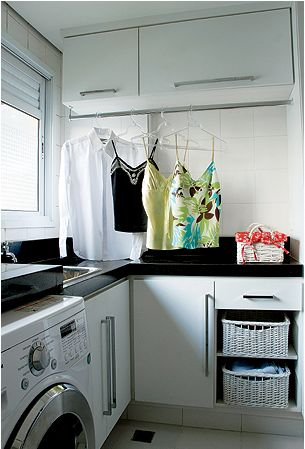 lavanderia em L pequena