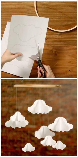 móbile de nuvens