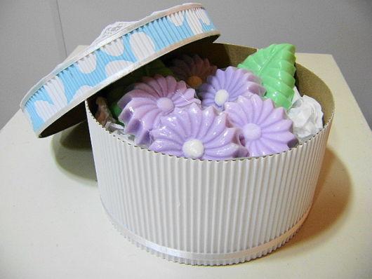 caixa com papel sanfonado
