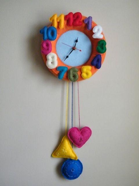 relógio decorado