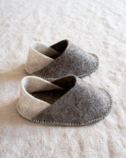 Artesanato em feltro de 70 inspira es e passo a passo for Pantofole natalizie