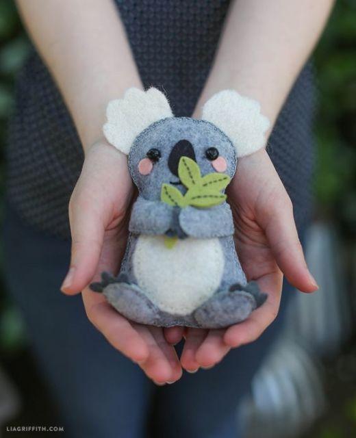 coala de feltro