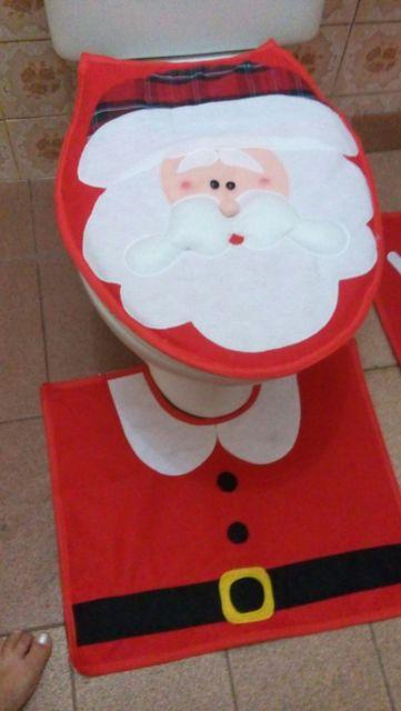 kit banheiro tema natal