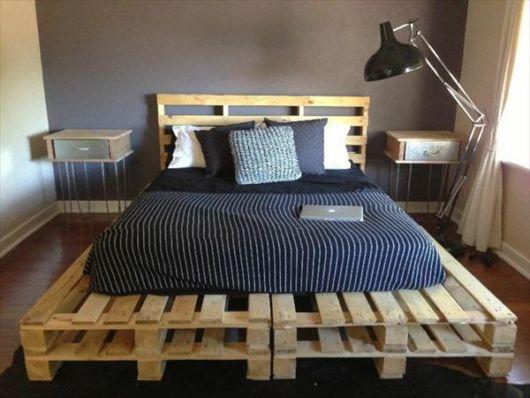cama baixa de pallet