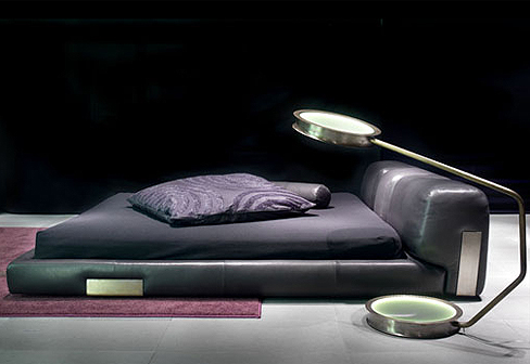 cama baixa estofado