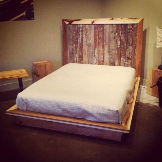 cama baixa rustica como é
