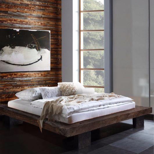 cama baixa tipo rustico ideia