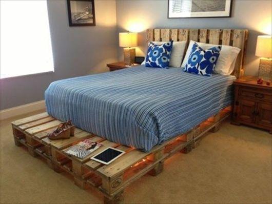 cama feita de pallet