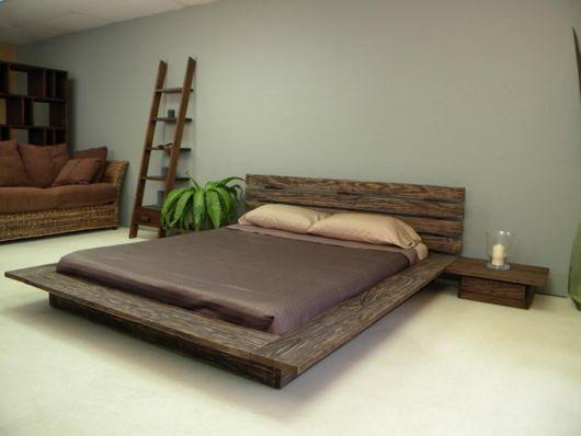 cama rustica e moderna