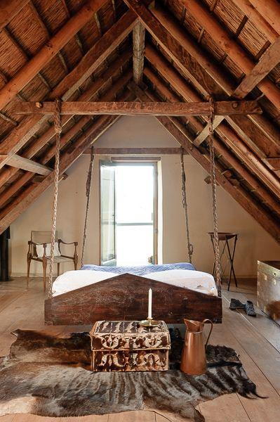 camas de madeira balanço