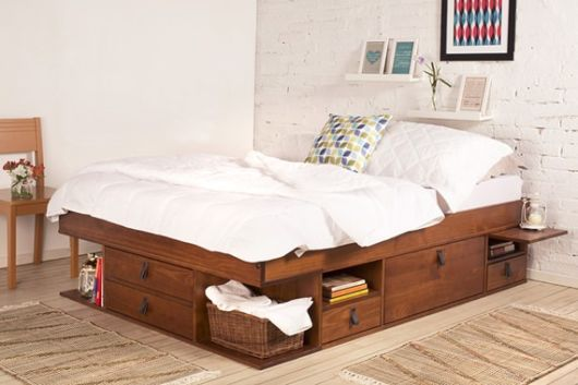 camas de madeira clean